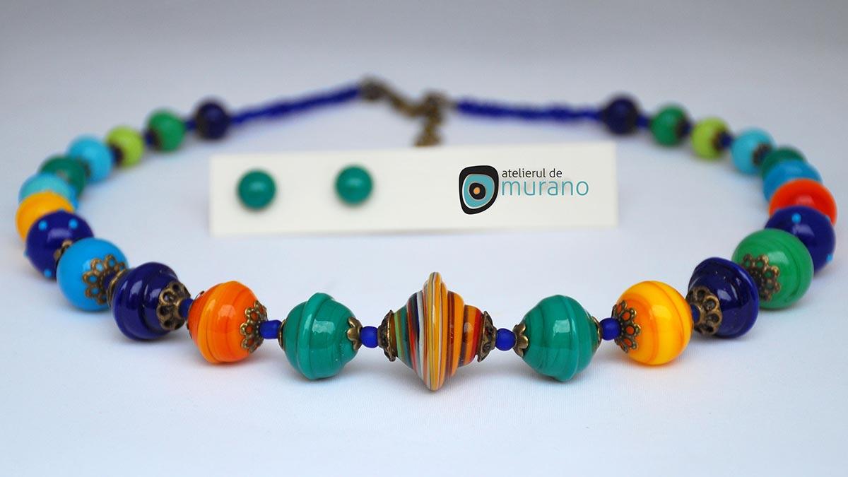 colier Murano multicolor