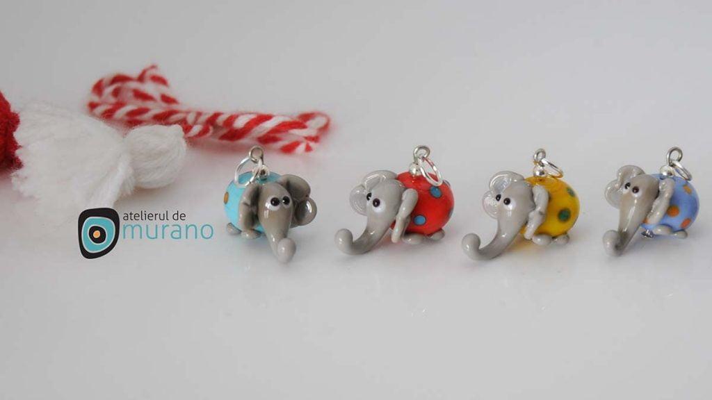 martisoare murano elefanti