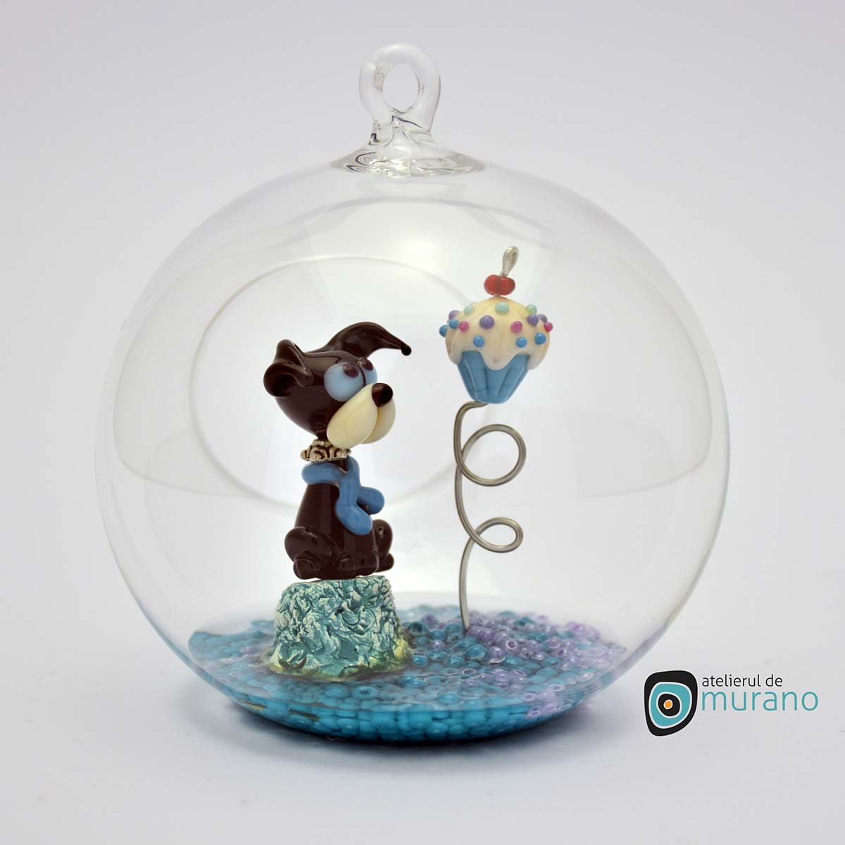 glob-sticla-murano-cu-catelus-4