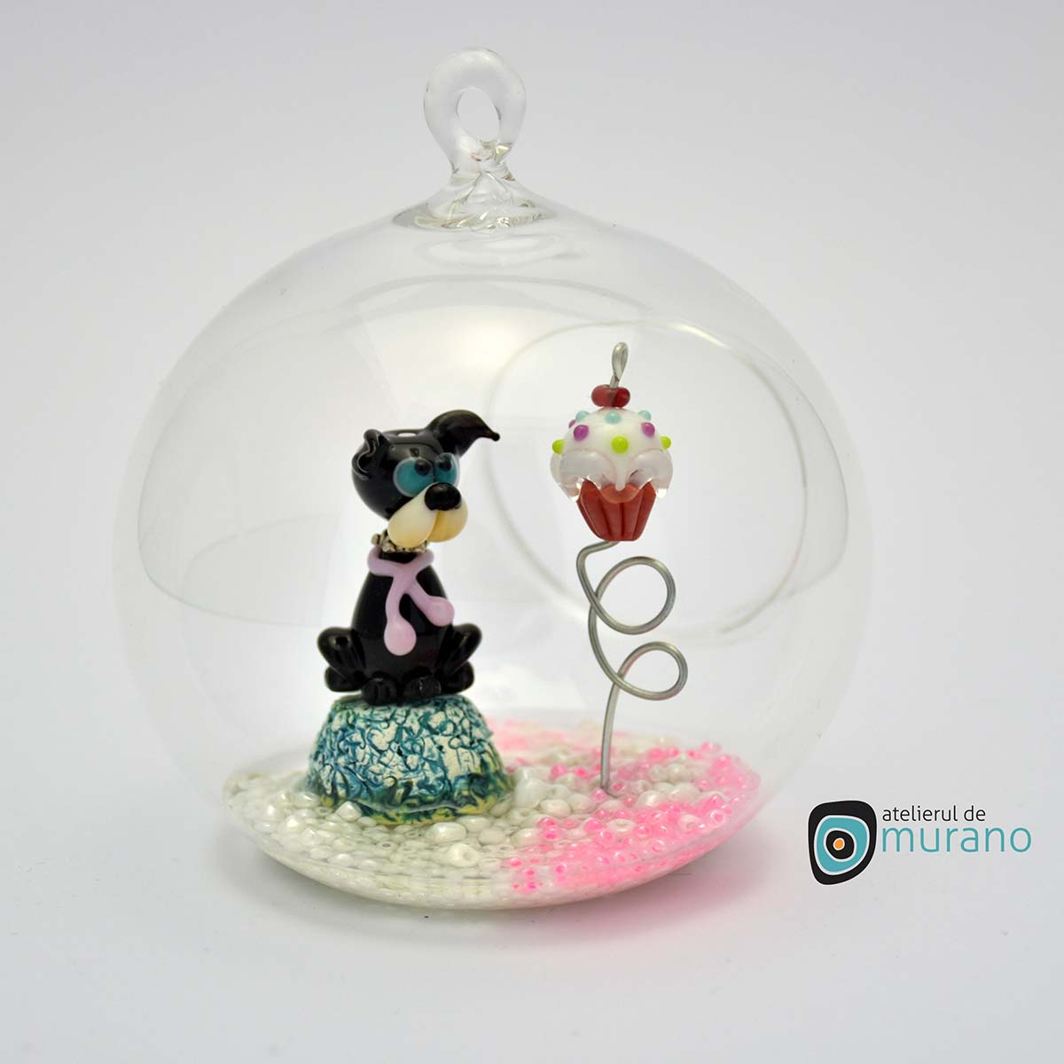 glob-sticla-murano-cu-catelus-7