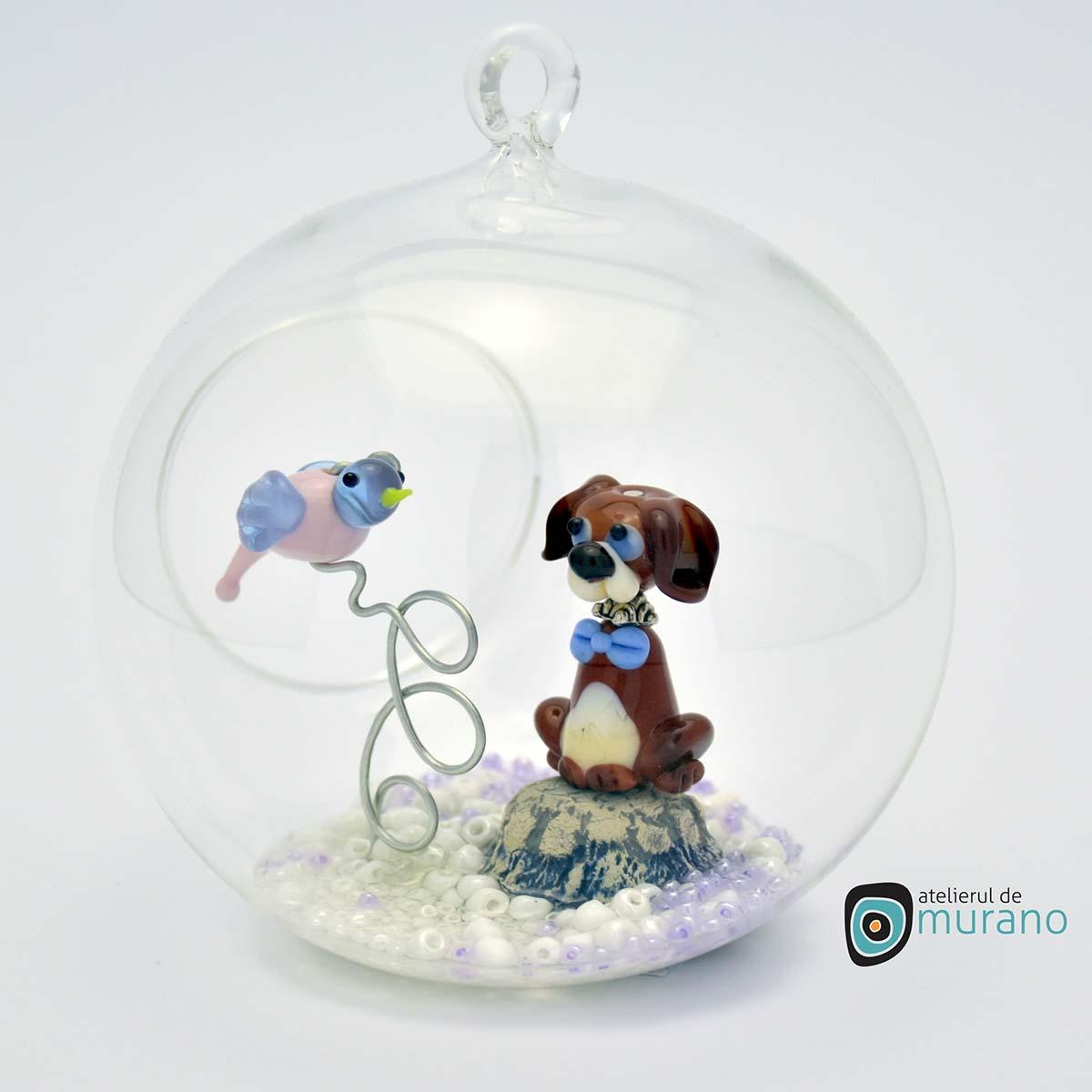 glob-sticla-murano-cu-catelus-9