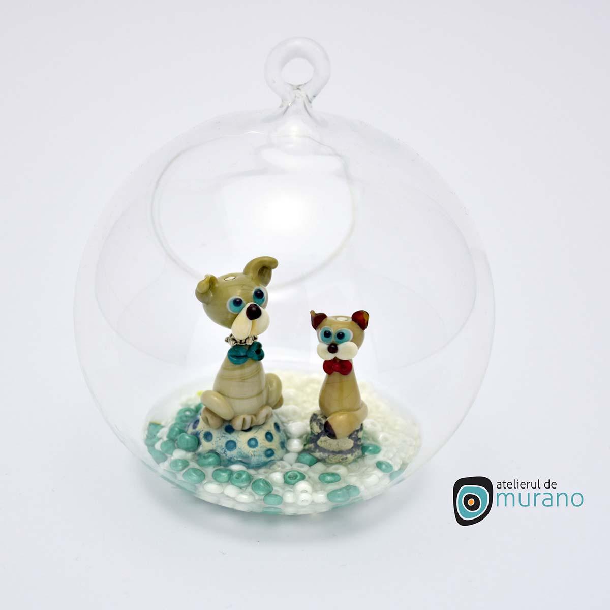 glob-sticla-murano-cu-catelusi-1