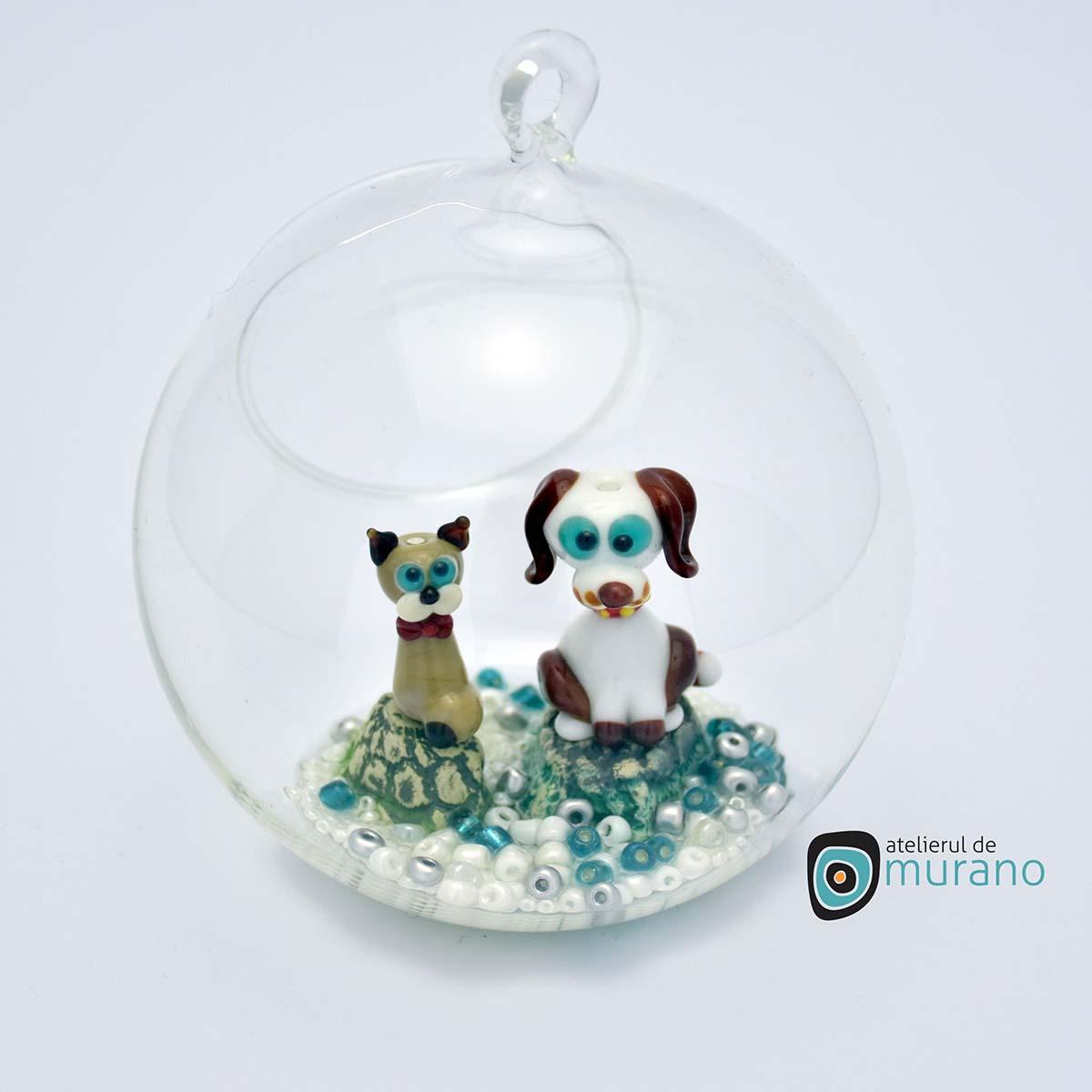 glob-sticla-murano-cu-catelusi-2