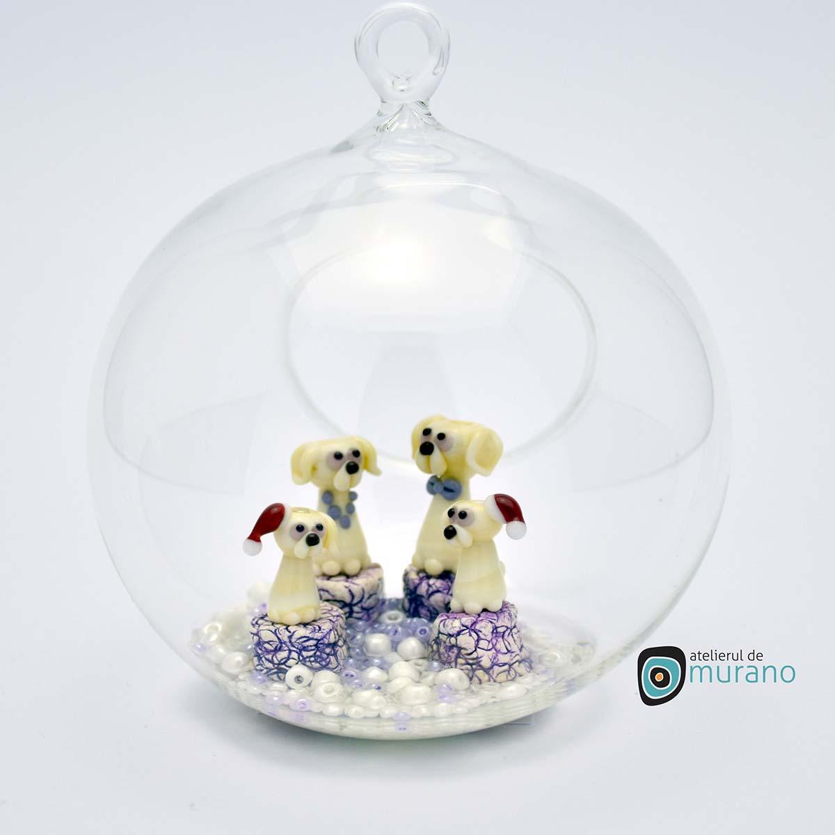 glob-sticla-murano-cu-catelusi-3