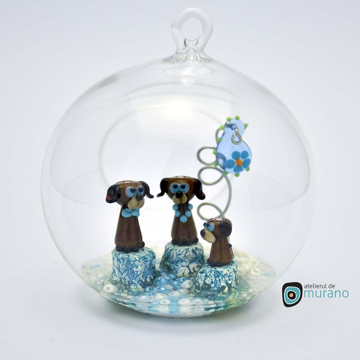 glob-sticla-murano-cu-catelusi-4