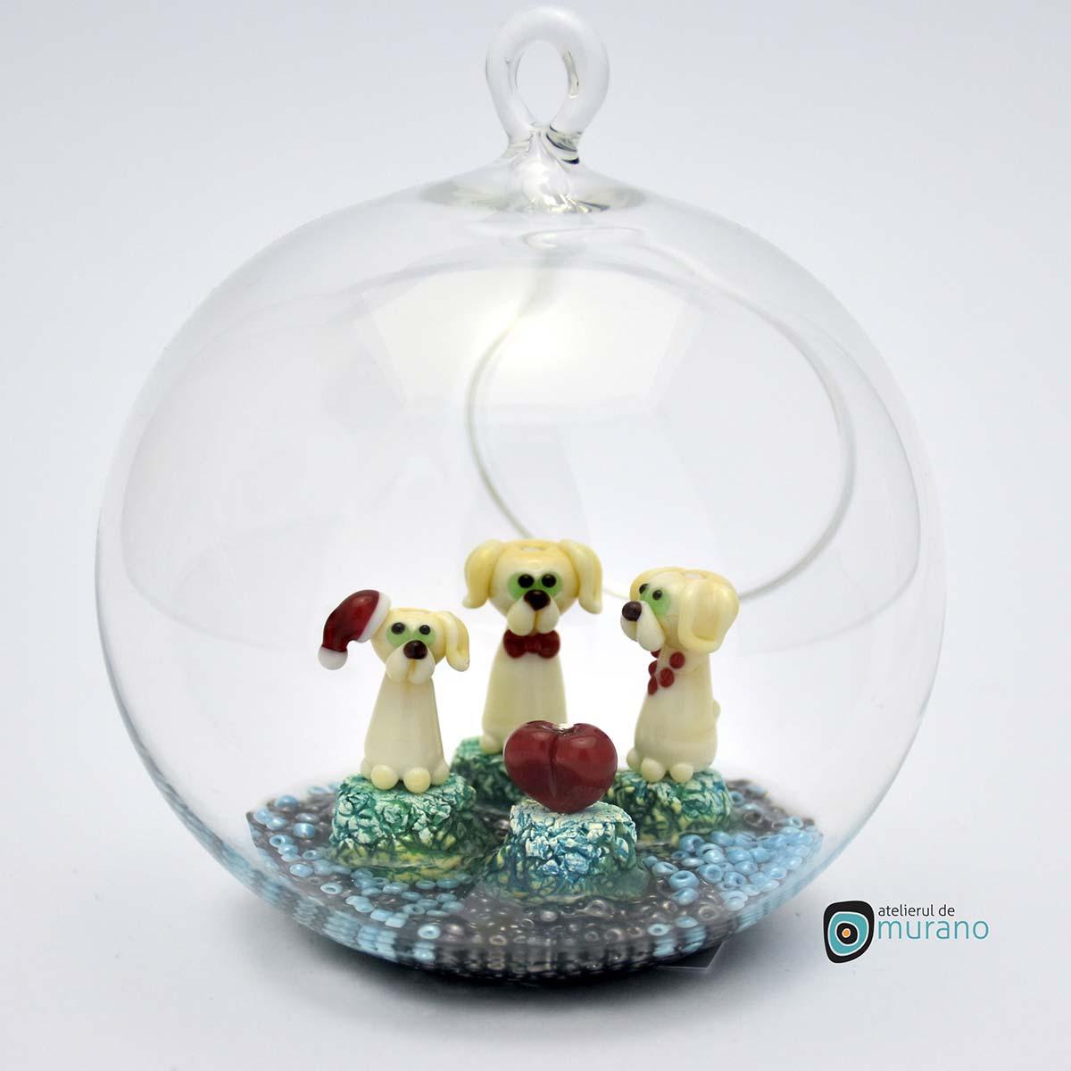 glob-sticla-murano-cu-catelusi-5