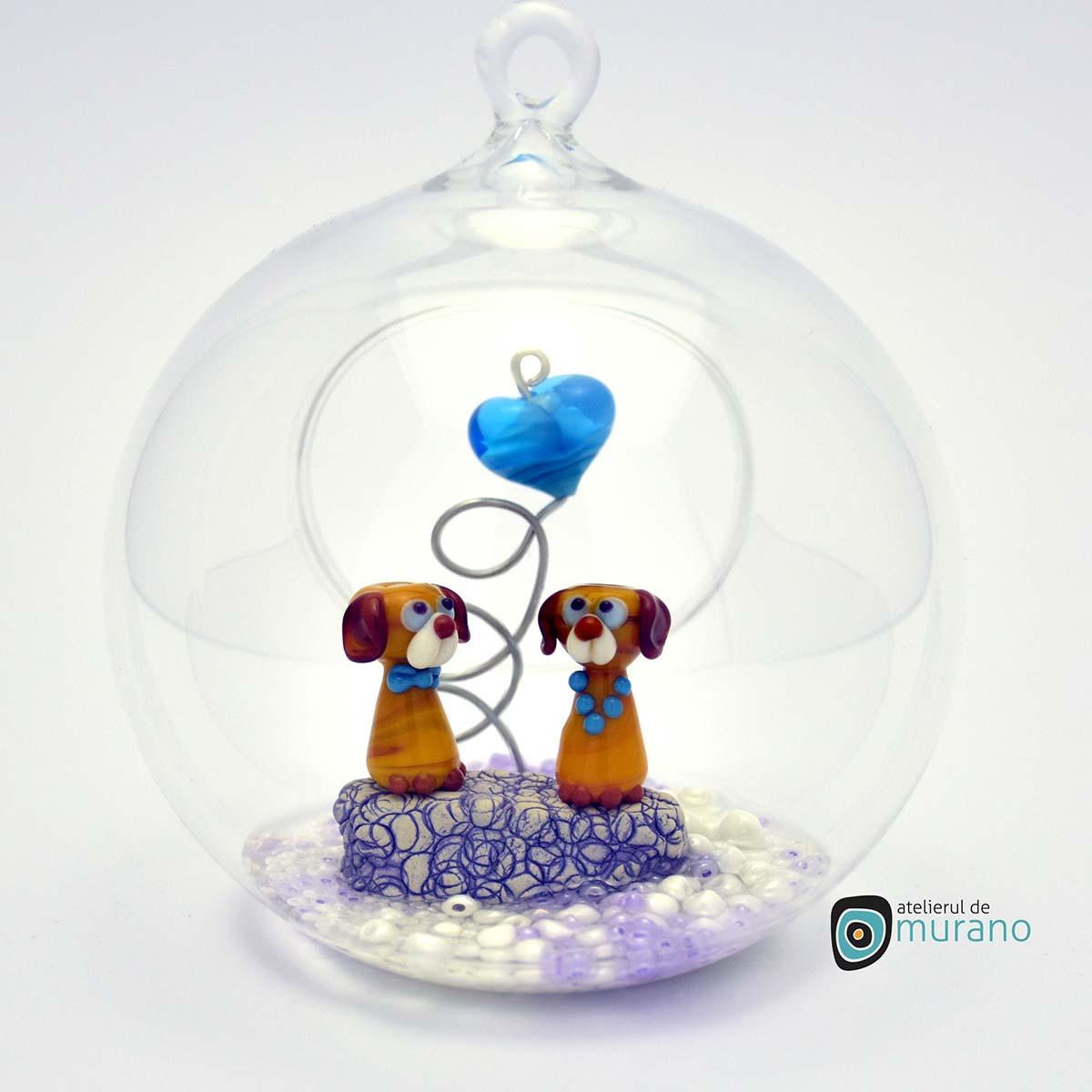 glob-sticla-murano-cu-catelusi-7