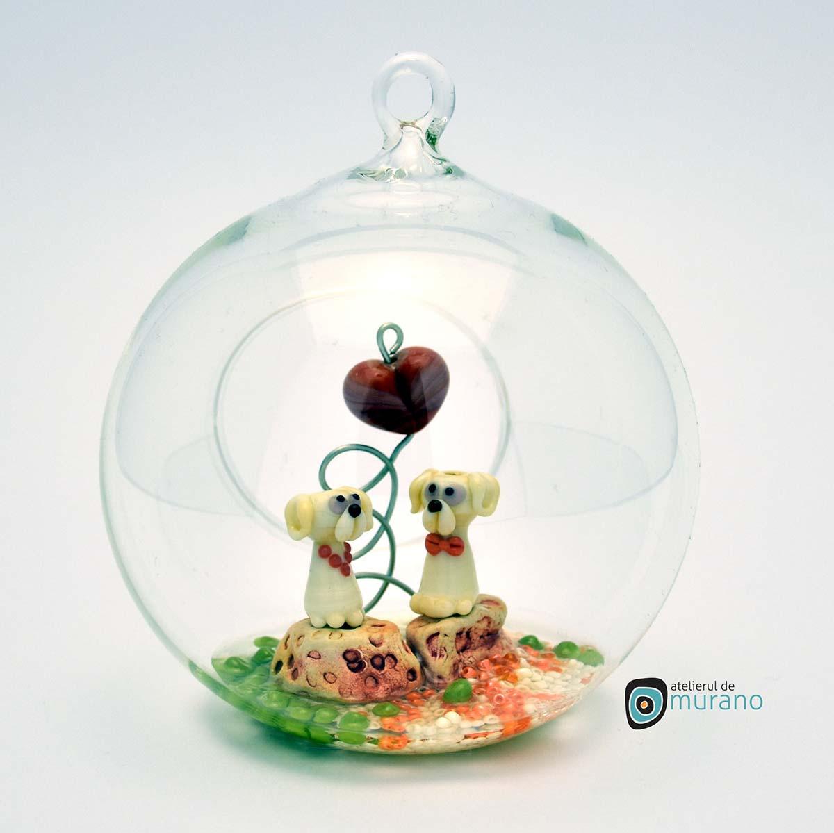 glob-sticla-murano-cu-catelusi-9