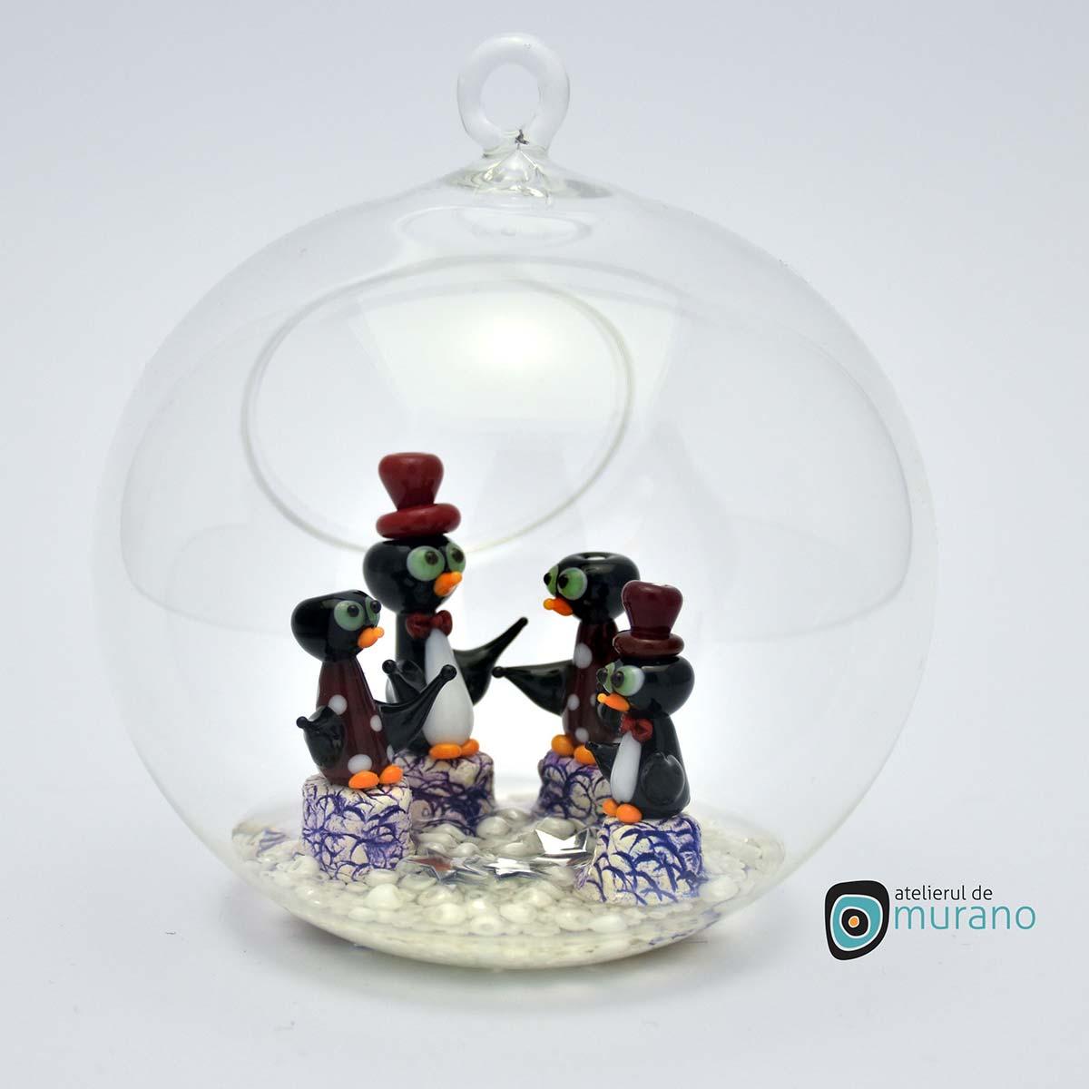 glob-sticla-murano-cu-pinguini-1