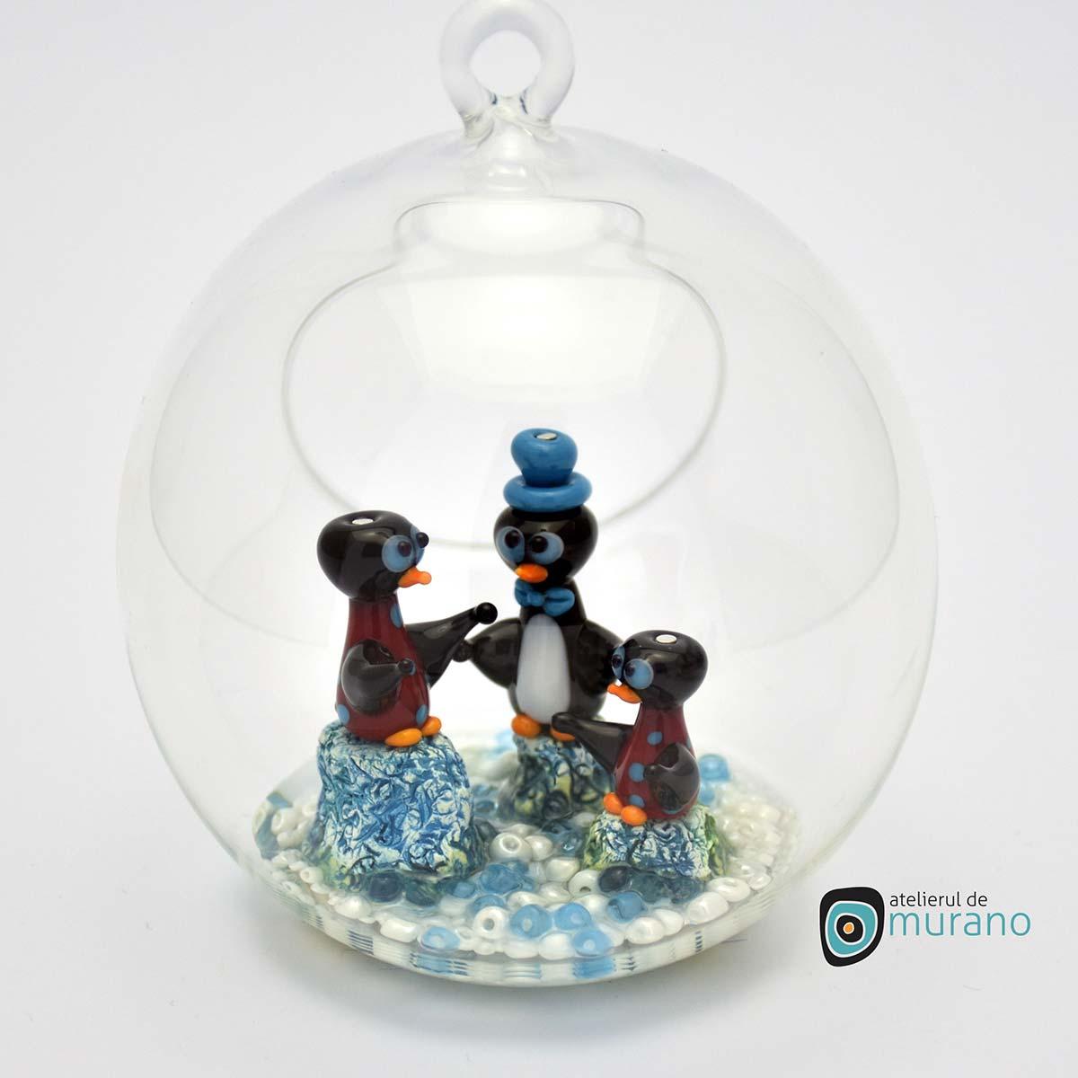 glob-sticla-murano-cu-pinguini-6