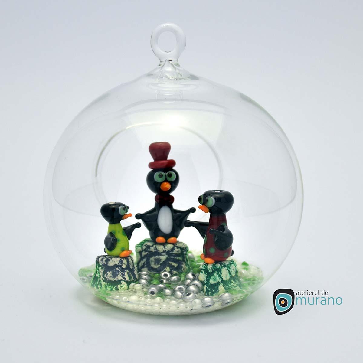 glob-sticla-murano-cu-pinguini-7