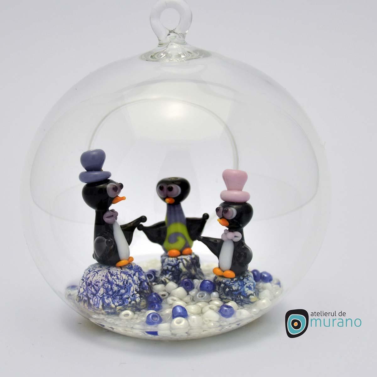glob-sticla-murano-cu-pinguini-8