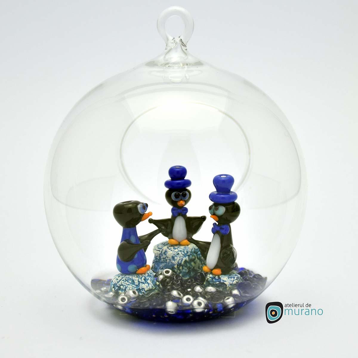 glob-sticla-murano-cu-pinguini-9