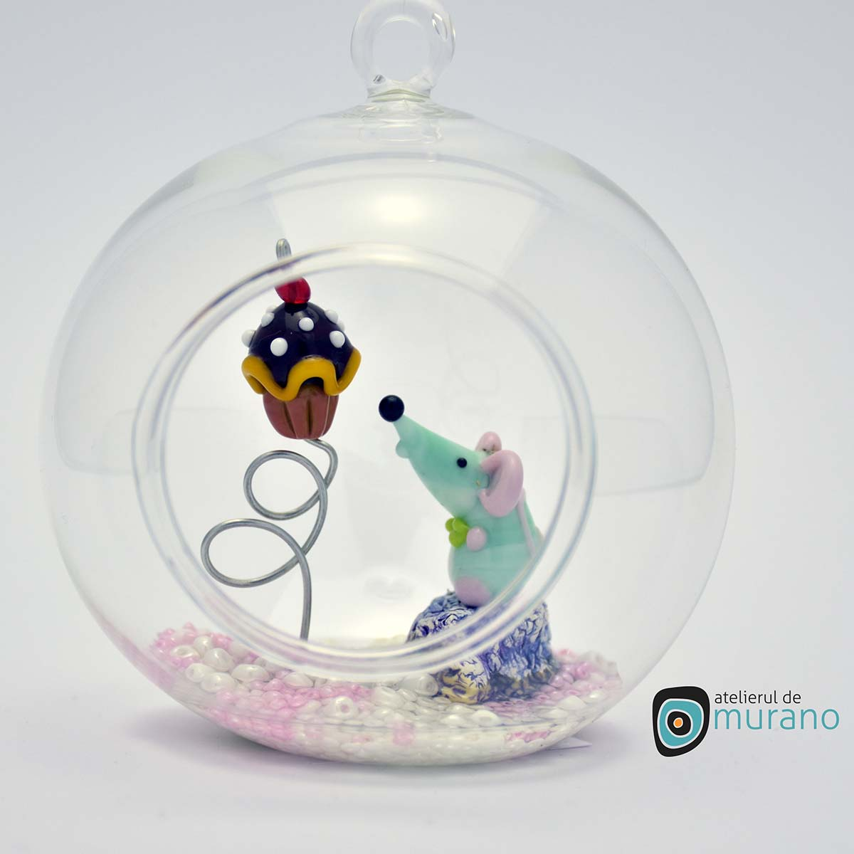 glob-sticla-murano-cu-soricei-3