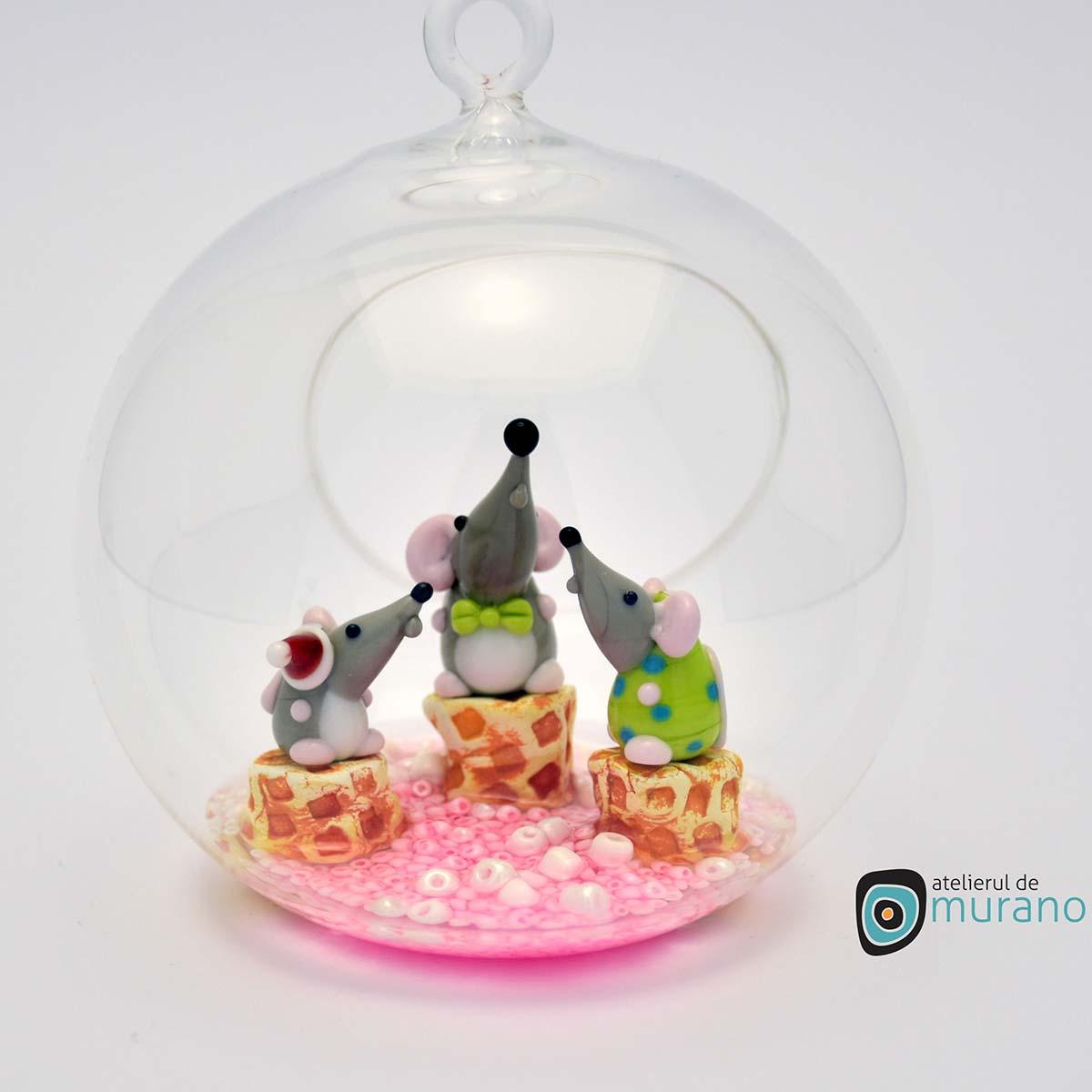 glob-sticla-murano-cu-soricei-7