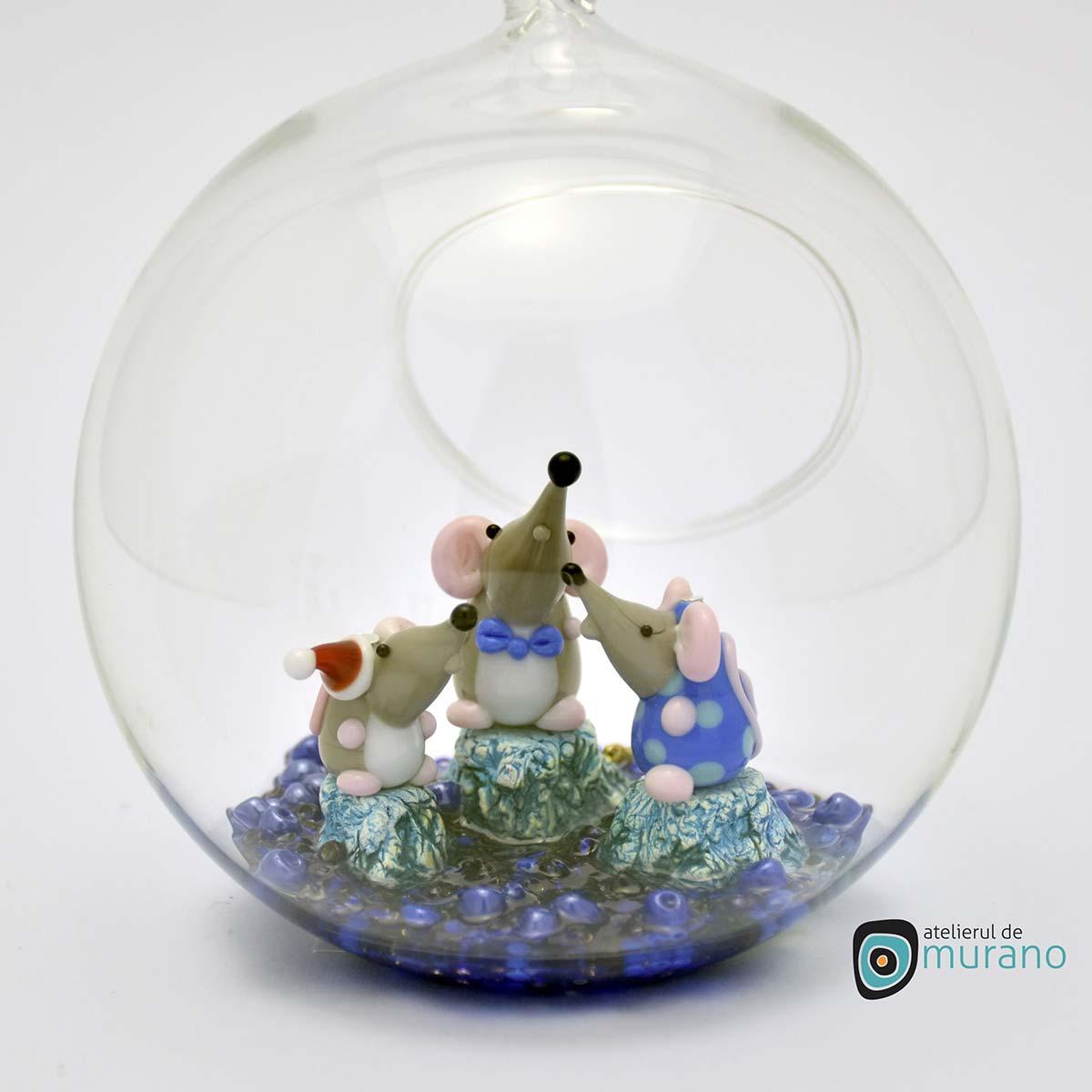 glob-sticla-murano-cu-soricei-8