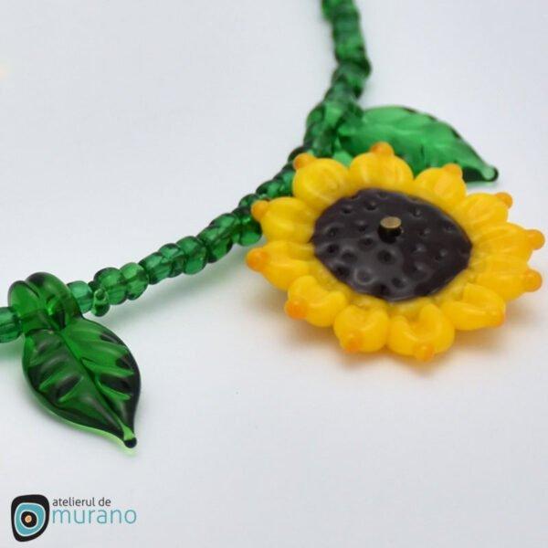 set murano floarea soarelui detaliu