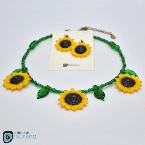 set murano floarea soarelui