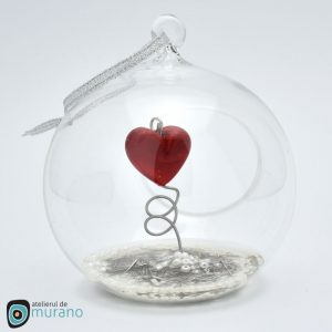 glob craciun inima