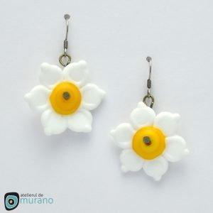 cercei murano flori albe