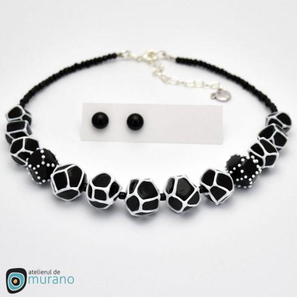 colier murano geometric black