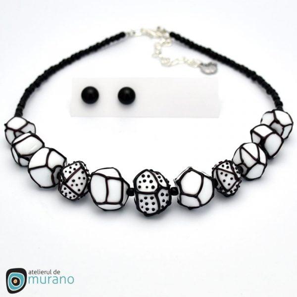 colier murano geometric white
