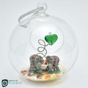 Glob de Crăciun cu Elefanți