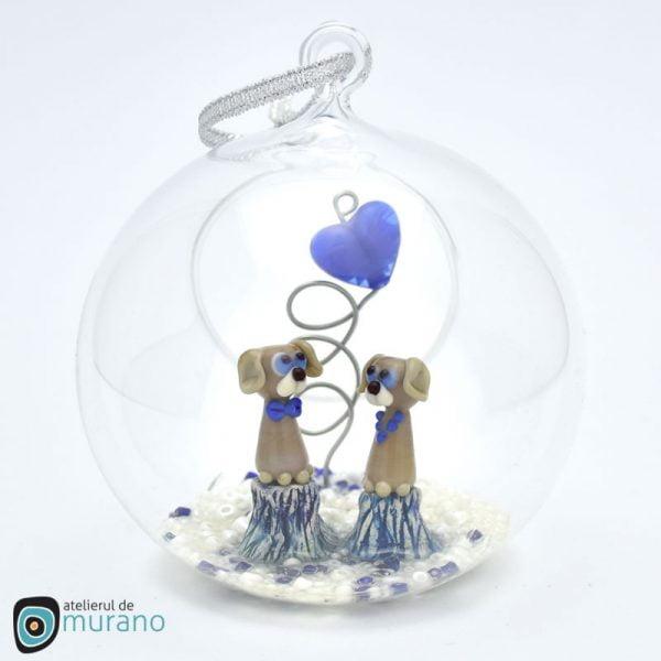 Glob de Crăciun cu Cățeluși