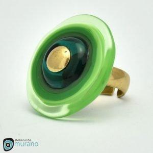 inel murano disc verde