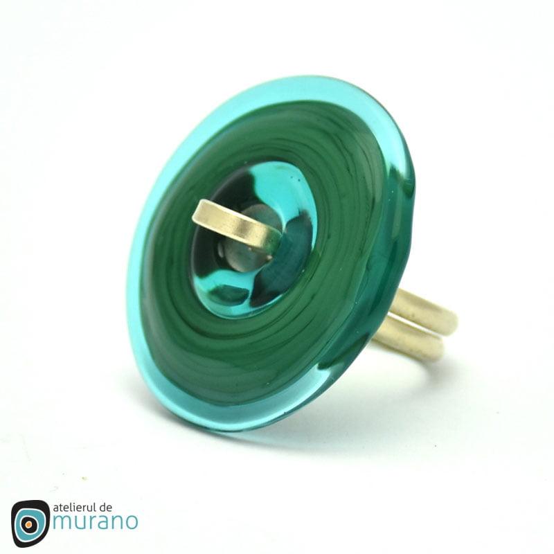 inel murano disc verde brad