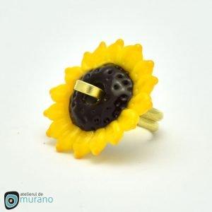 inel murano floarea soarelui