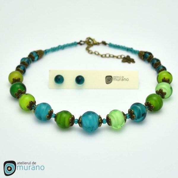 colier murano green