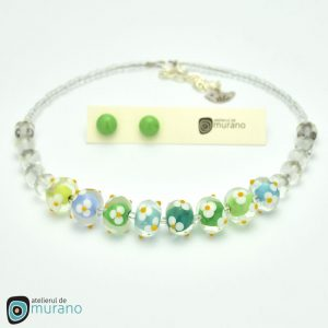 colier murano spring flowers
