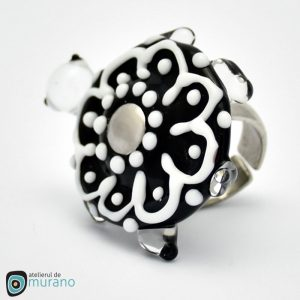 inel murano black invisible turtle