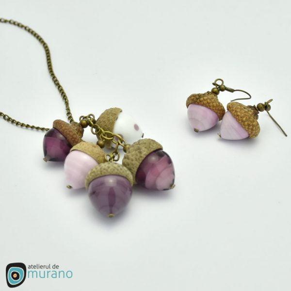 set murano ghinde roz