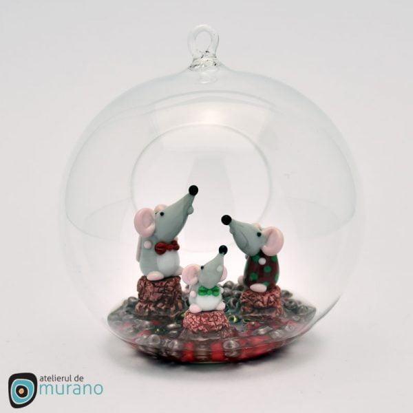 Glob de Crăciun cu 3 Șoricei