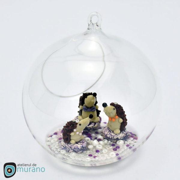 Glob de Crăciun cu 3 Arici