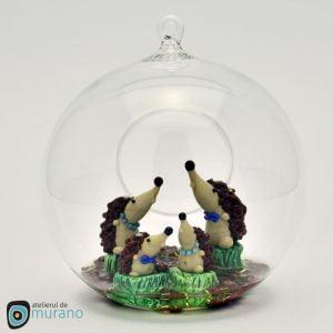 Glob de Crăciun cu 4 Arici