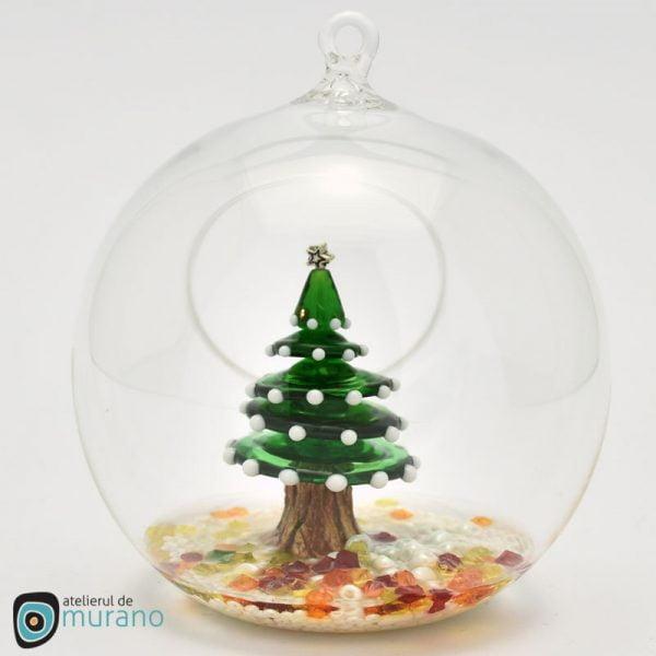 Glob de Crăciun cu Brad