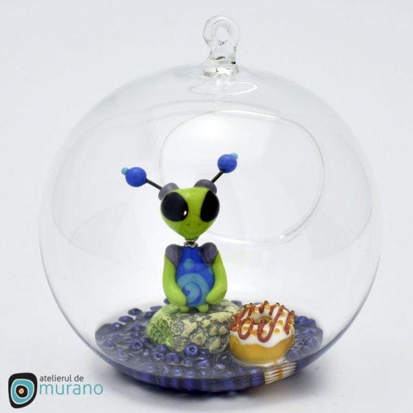 Glob de Crăciun cu Extraterestru