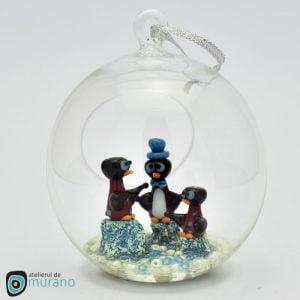 Glob de Crăciun cu 3 Pinguini