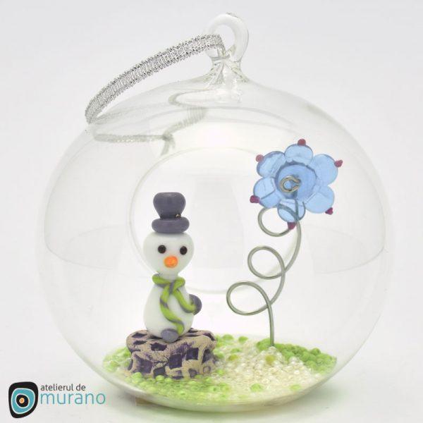 Glob de Crăciun cu Om de zăpadă