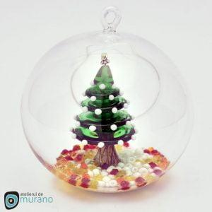 Glob de Crăciun cu Brăduț