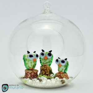 Glob de Crăciun cu Bufnițe