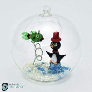 Glob de Crăciun cu Pinguin