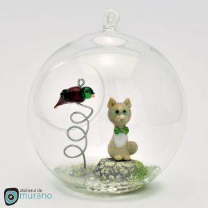 Glob de Crăciun cu Pisică