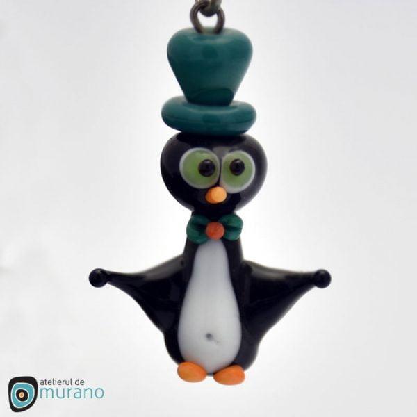 pandantiv- murano pinguin marin