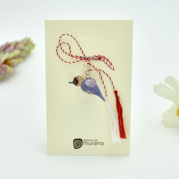 martisor murano colibri violet