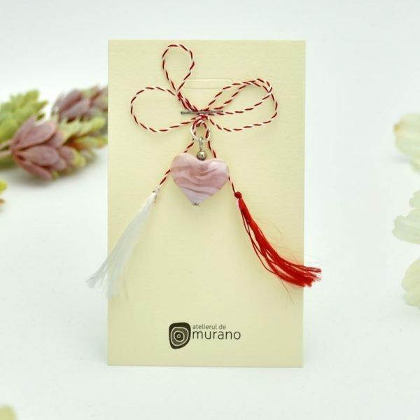 martisor murano inima roz