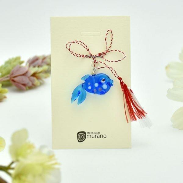 martisor murano pestisor albastru